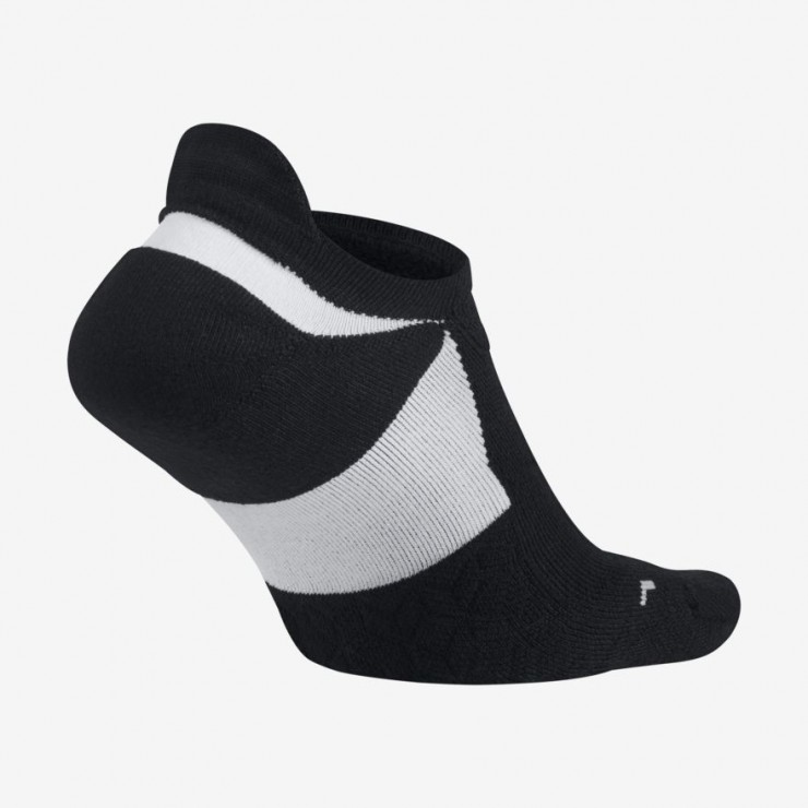 Nike Elite Cushioned No-Show Unisex sock white black